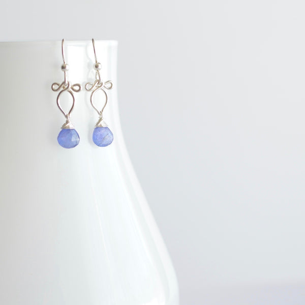 Arabella - Tanzanite, Sterling Silver Earrings