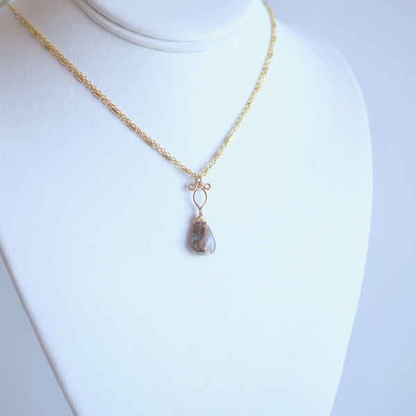 Arianna - Copper Calcite and 14k Gold Filled Necklace