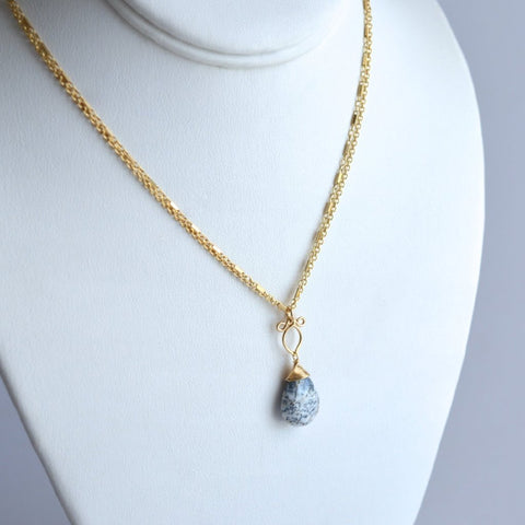 Arianna - Dendrite Opal, 14k Gold Filled Necklace