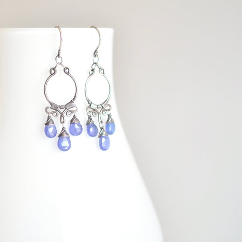 Aura - Tanzanite, Sterling Silver Earrings