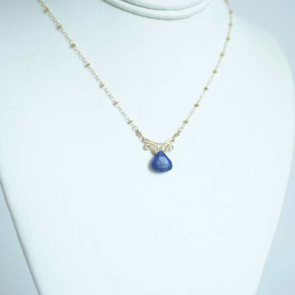 Camila - Lapis Lazuli, 14k Gold Filled Necklace