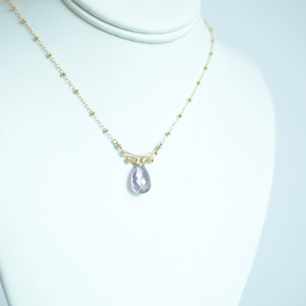Camila - Lavender Amethyst, 14k Gold Filled Necklace
