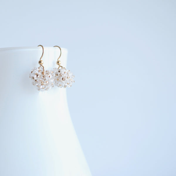 Claudia - Herkimer Diamond Quartz, 14k Gold Filled Earrings