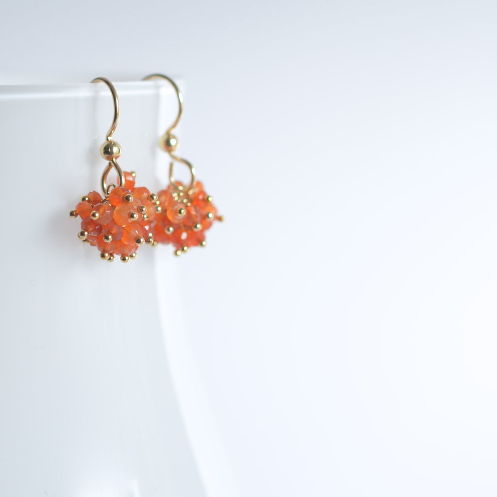 Claudia - Carnelian, 14k Gold Filled Earrings