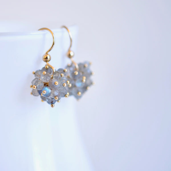 Claudia - Labradorite, 14k Gold Filled Cluster Earrings