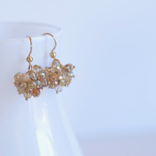 Claudia - Zircon, 14k Gold Filled Earrings