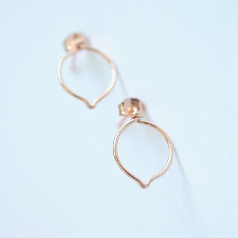 Daisy - 14k Rose Gold Filled Post Earrings
