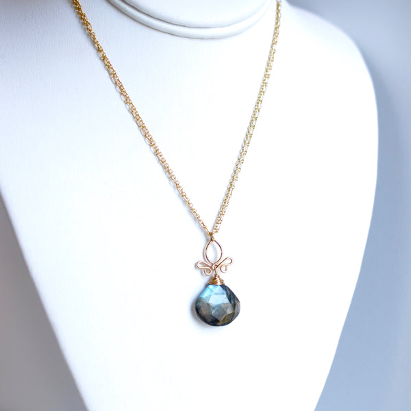 Imogen - Labradorite, 14k Gold Filled Necklace