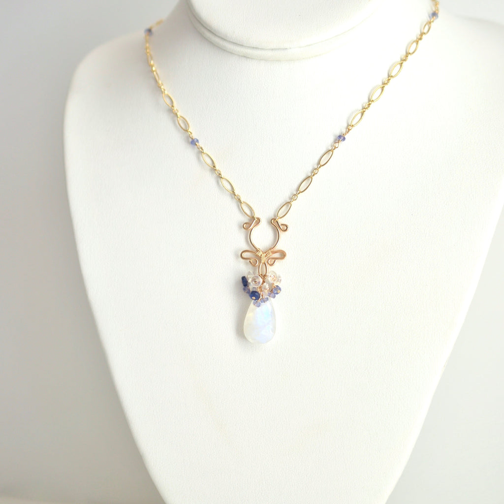 Jordana - Moonstone, Kyanite, Tanzanite 14k Gold Filled Necklace