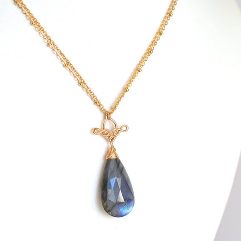Pamela - Labradorite, 14k Gold Filled Necklace