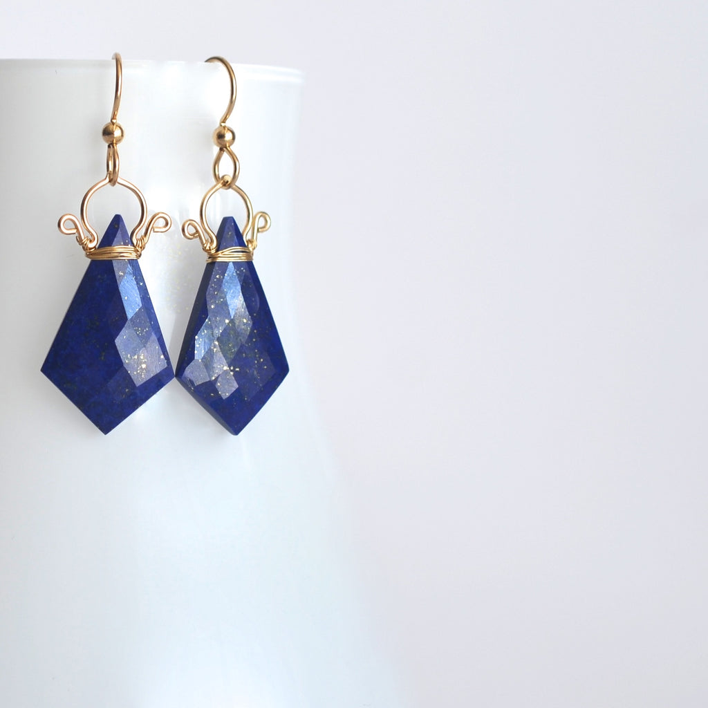 Celine - Lapis Lazuli, 14k Gold Filled Earrings