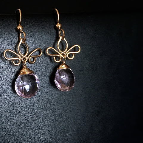Adamaris - Amethyst, 14k Gold Filled Earrings