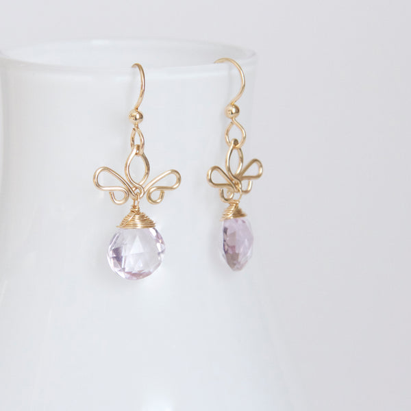 Adamaris - Lavender Amethyst and 14k Gold Filled Earrings
