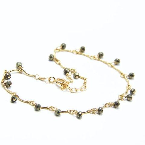 Leticia - Pyrite, 14k Gold Filled Bracelet