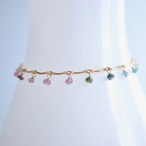 Leticia - Tourmaline, 14k Gold Filled Bracelet