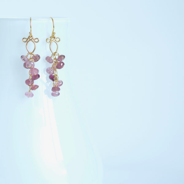 Leyla - Tourmalines, 14k Gold Filled Earrings