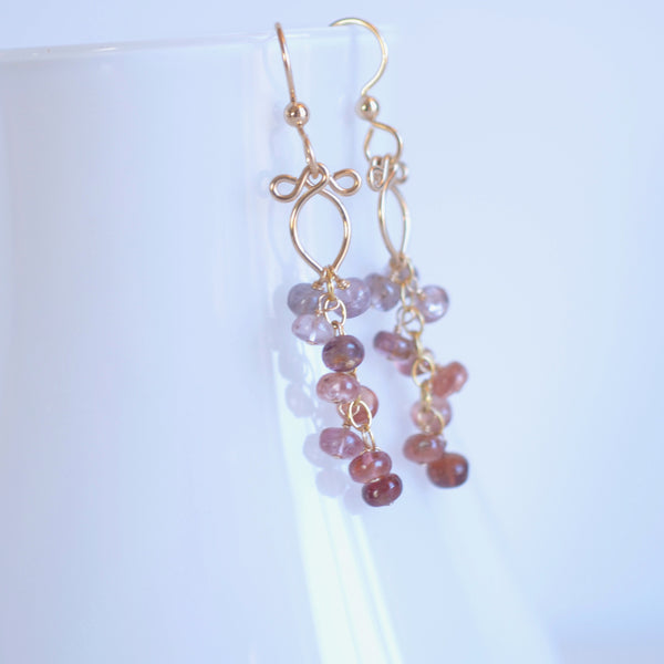 Leyla - Spinel, 14k Gold Filled Earrings