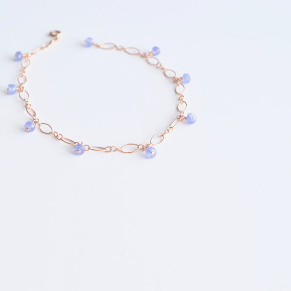 Lili - Tanzanite, 14k Rose Gold Filled Bracelet
