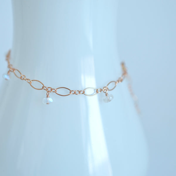 Lili - Moonstone, 14k Gold Filled Bracelet