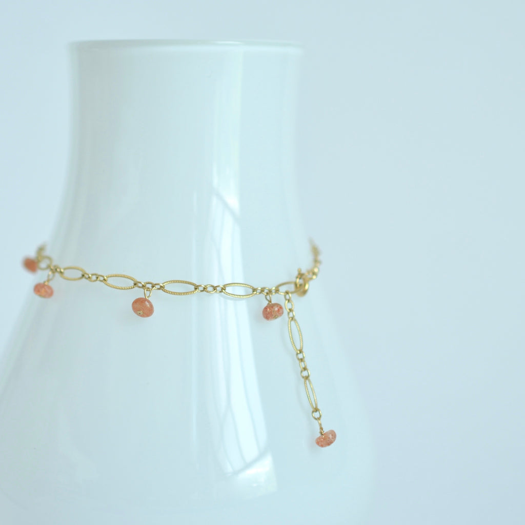 Lili - Sunstone, 14k Gold Filled Bracelet