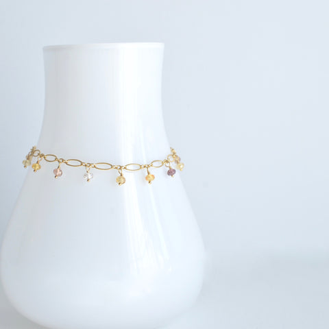 Lilibeth - Zircon, 14k Gold Filled Bracelet