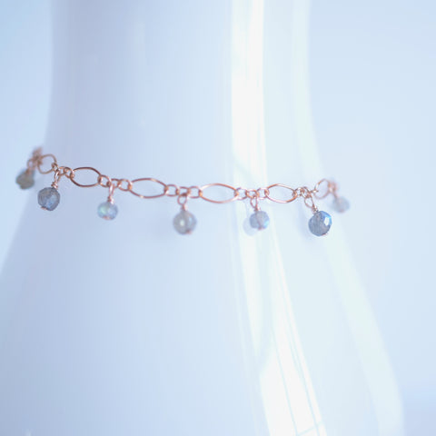 Lilibeth - Labradorite, 14k Rose Gold Filled Bracelet