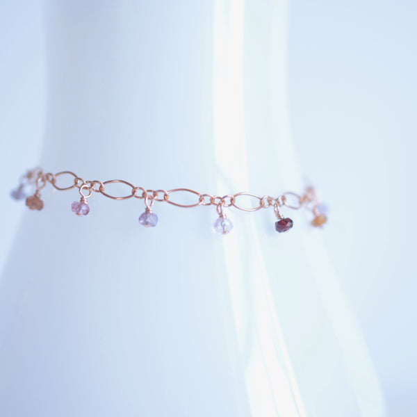 Lilibeth - Spinel, 14k Rose Gold Filled Bracelet