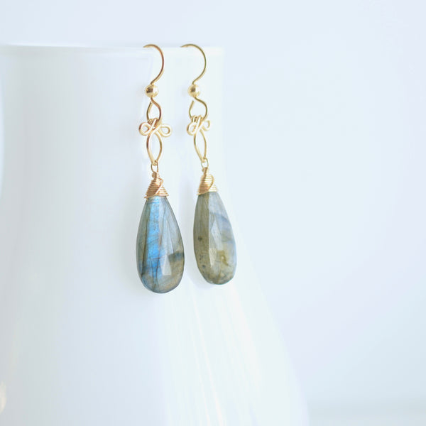 Little Preeda - Labradorite, 14k Gold Filled Earrings
