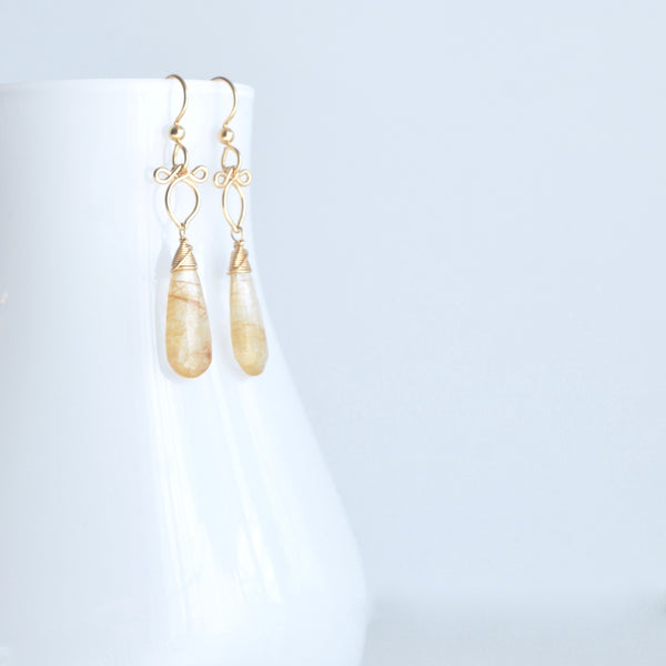 Little Preeda - Rutilated Quartz, 14k Gold Filled Earrings
