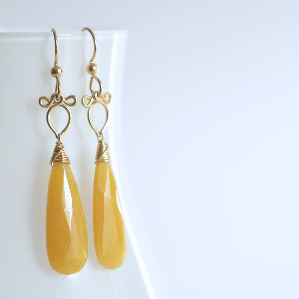Preeda - Yellow Aventurine, 14k Gold Filled Earrings
