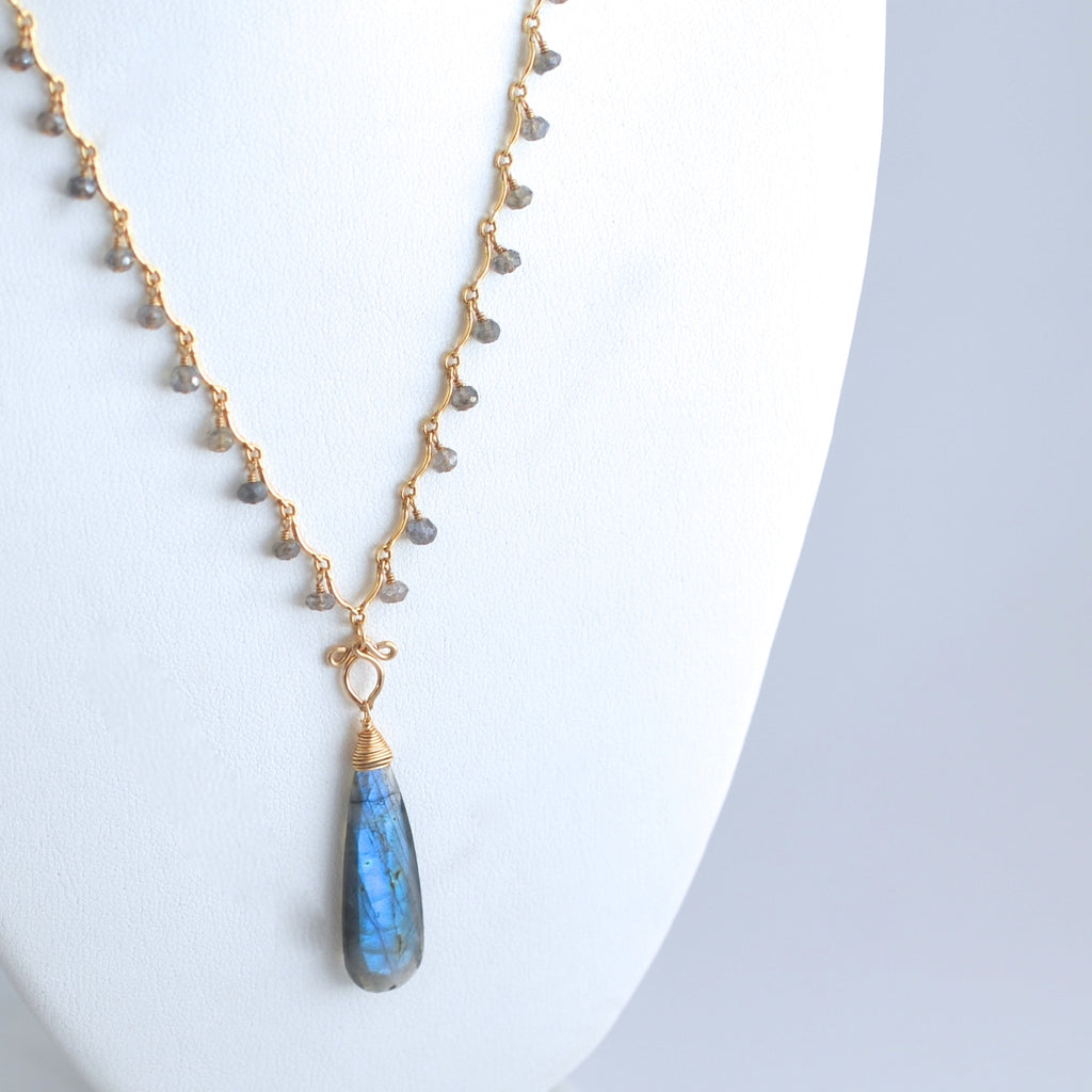 Lyanna - Labradorite, 14k Gold Filled Necklace