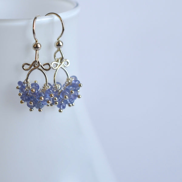 Mabel - Tanzanite Sterling Silver Earrings