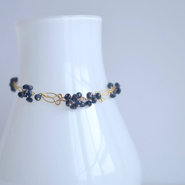 Meredith - Sapphires, 14k Gold Filled Bracelet
