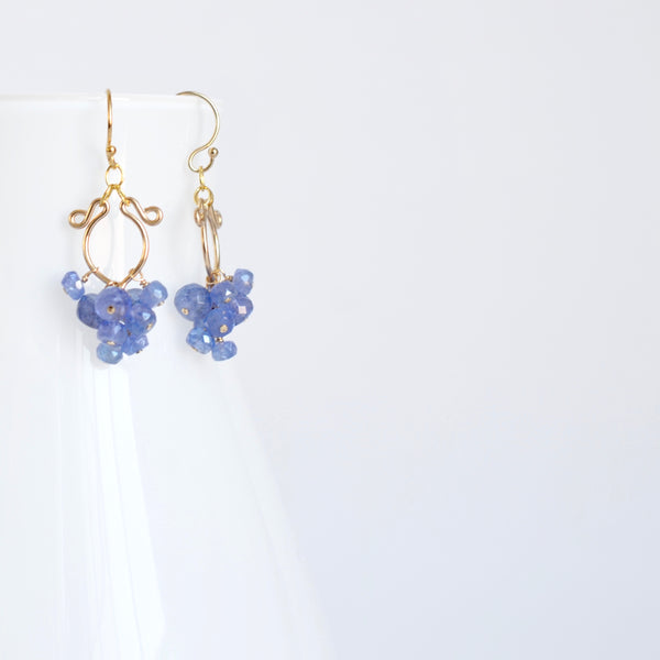 Miriam - Tanzanite, 14k Gold Filled Earrings