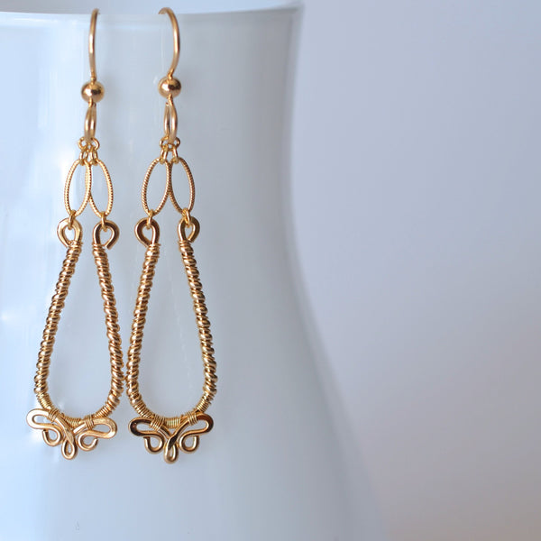 Nalini - Elongated 14k Gold Filled Earrings Medium