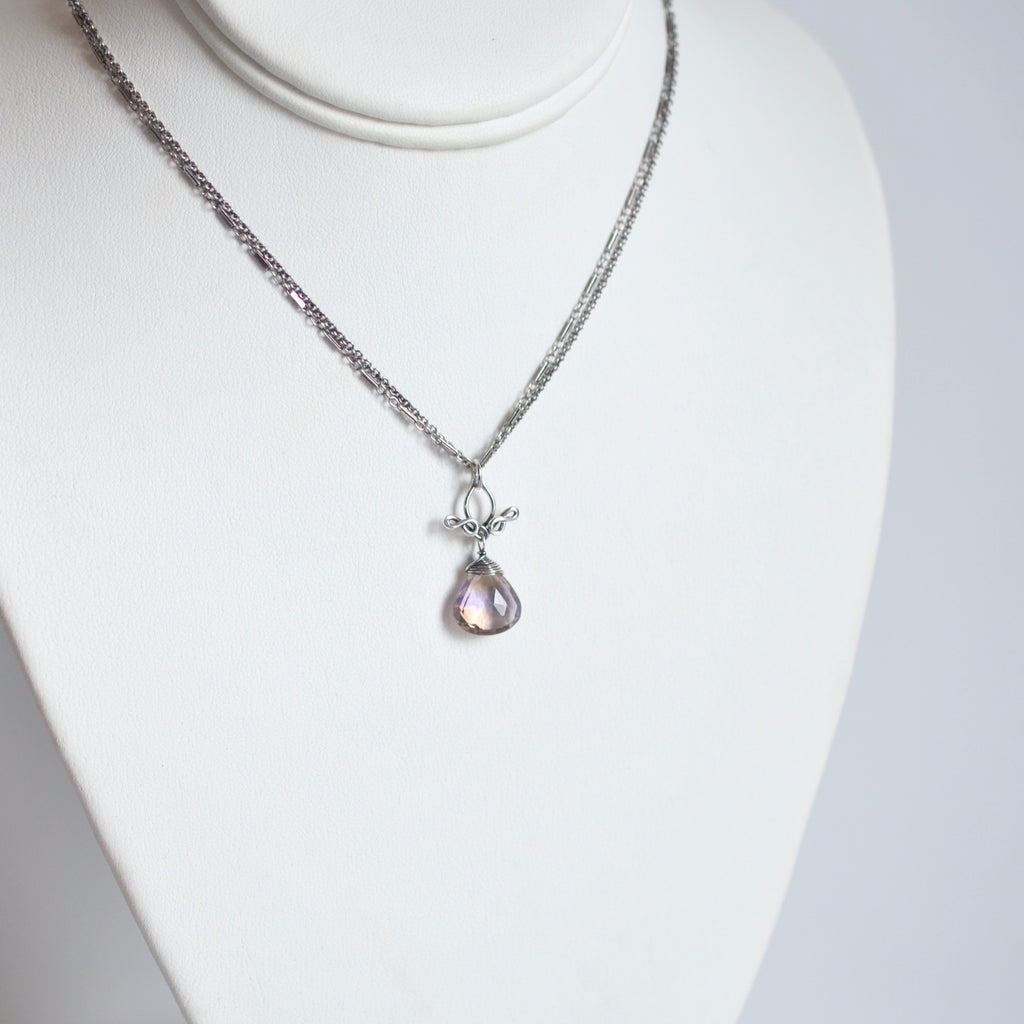 Petite Pamela - Ametrine, Sterling Silver Necklace