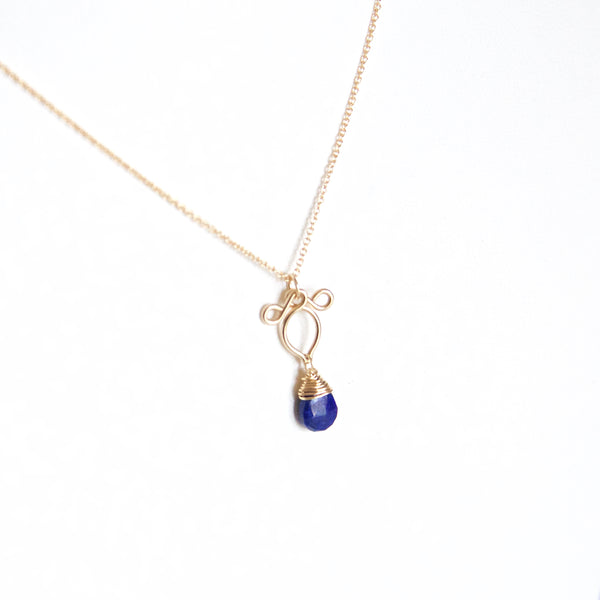 Petite Arabella - Lapis Lazuli, 14k Gold Filled Necklace