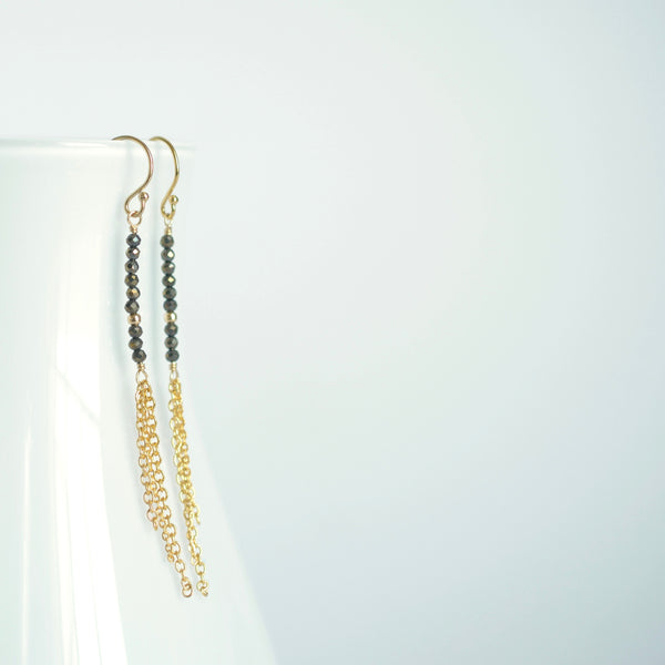 Piper - Pyrite, 14k Gold Filled Earrings
