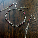 Piper - Rhodolite Garnet, Sterling Silver Earrings