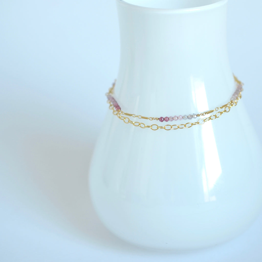 Piper - Spinel, 14k Gold Filled Bracelet