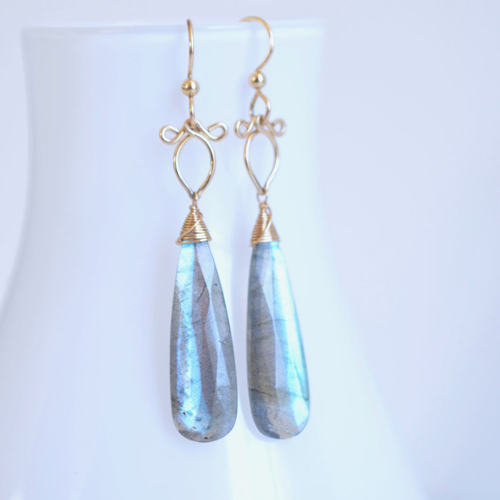 Preeda - Labradorite, 14k Gold Filled Earrings