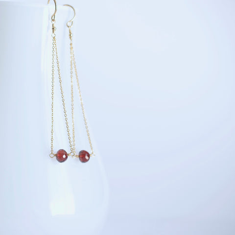 Salem - Garnet, 14k Gold Filled Earrings