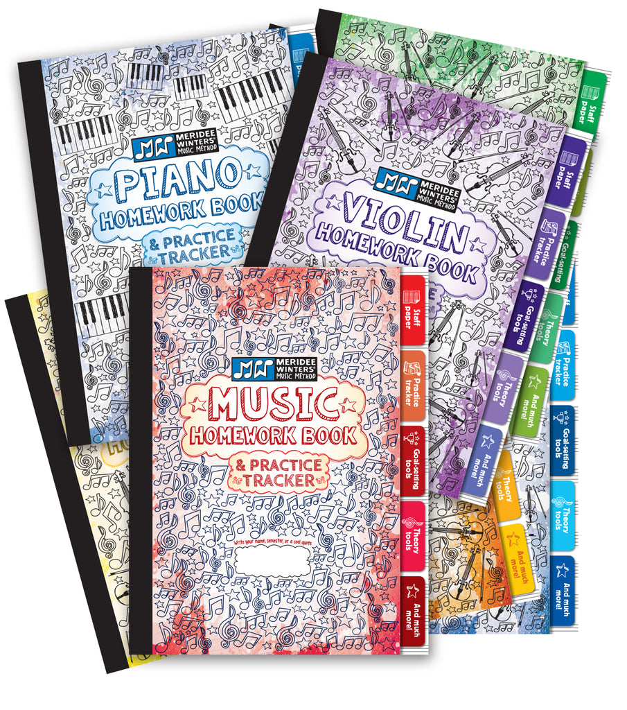 piano music practice lessons homework book journal