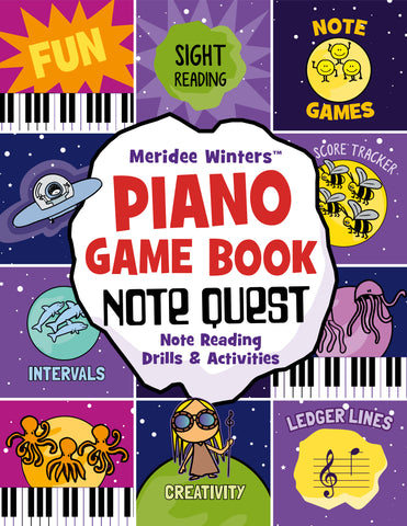 Meridee winters piano games notequest note reading games