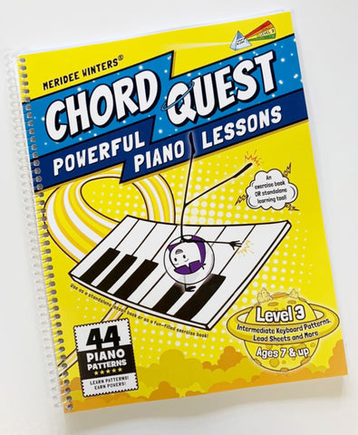 [SPIRAL BOUND VERSION] CHORD QUEST Powerful Piano Lessons Level 3:Intermediate Keyboard Patterns, Lead Sheets and More