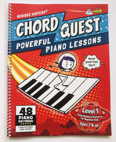 [SPIRAL BOUND VERSION] CHORD QUEST Powerful Piano Lessons Level 1: Easy Keyboard Patterns for Beginner Kids