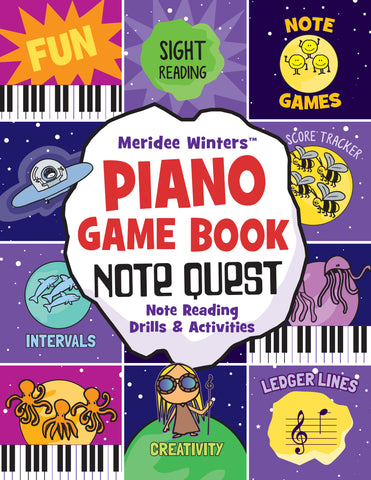 Meridee Winters Note Quest (Piano Game Book)