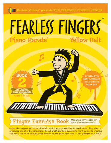Fearless Fingers™ Piano Karate Level 2: Yellow Belt