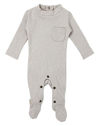 L'ovedbaby Unisex Baby Organic Footed Mock-Neck Jumpsuit –The Vintage Collection