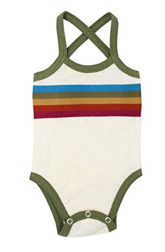L'ovedbaby Baby Girls Organic Cotton Terry Cloth Bodysuit–Tennis Club Collection